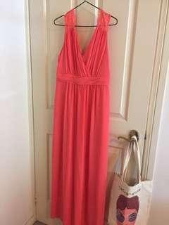 Review Pink Formal Maxi Dress