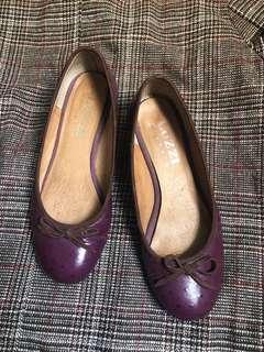🚚 Luzzi真皮紫色娃娃鞋