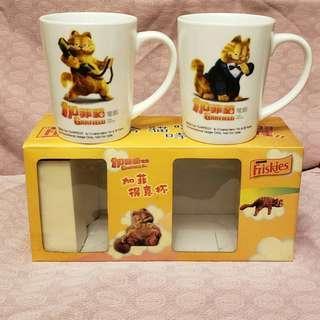 garfield 加菲貓 電影 陶瓷杯 一套有兩隻 每套$60