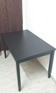 IKEA Lerhamn Table, black-brown (118x74cm)