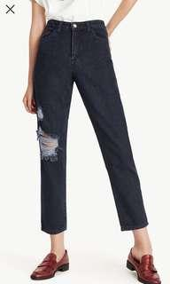 Pomelo ripped mom jeans
