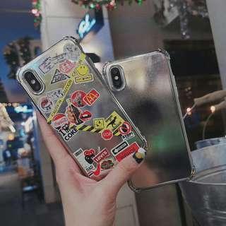 ✔D.I.Y iPhone case (附8張貼紙,隨你喜好設計獨一無二電話殼)