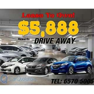 Lease To Own New Cars!
