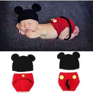 🚚 [Pre-order] Knitted mickey mouse costume baby newborn prop photoshoot
