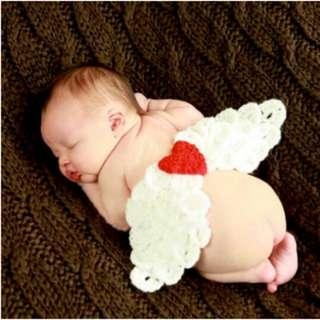 🚚 [In Stock] Knitted newborn angel baby prop photoshoot