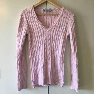 Heritage Cable V neck sweater