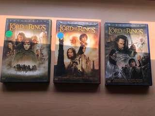 Lord the the Rings DVDs (region 1)