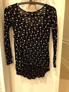 Zara 黑色星星上衣,正反兩面都可穿
