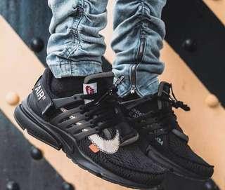 🚚 OFF-WHITE x Air Presto Black