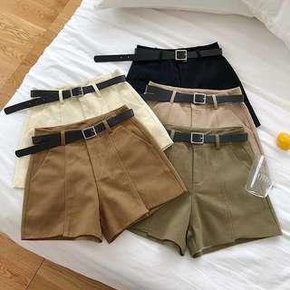🚚 #079 korean harajuku casual shorts with free belt!