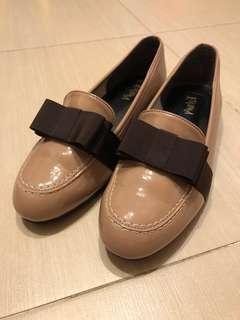 Esperanza flat shoes with ribbon 🎀 日本拼色蝴蝶結紳士平底鞋