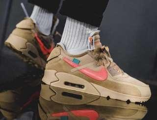 🚚 OFF-WHITE x Air max 90 desert ore