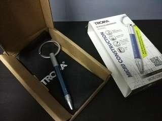 Troika Pen keyring (incl black gift bag as pictured)