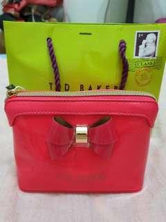 🚚 Ted Baker Bow makeup bag pink new!