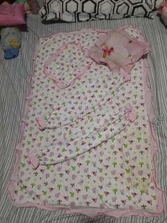 Pre-loved White & Pink Baby Comforter Set 4-in-1 Set