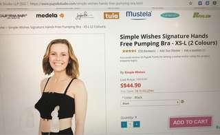 🚚 Simple wishes Signature hands free pumping Bra xs-L, black