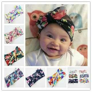 Baby Headband Turban Flower Printed