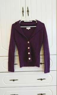 🚚 二手Net S號 紫色毛衣外套