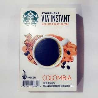 🚚 星巴客VIA哥倫比亞即溶咖啡
