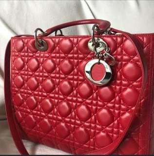 b378d0d20345 Lady Dior handbag cannage quilt lambskin large (authentic) like new