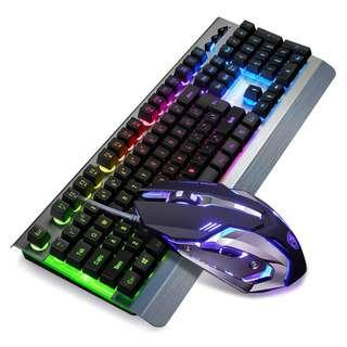 SADES Whispering Metal Panel Backlit Gaming Keyboard+Mouse