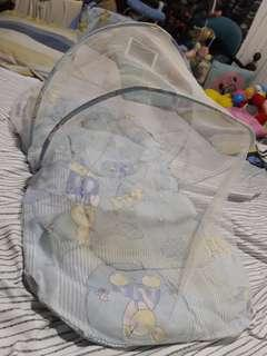 Pre-loved Blue Baby Net Bed with Pillow
