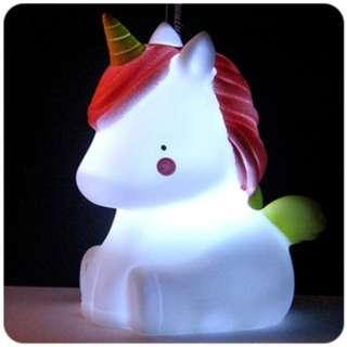 🚚 [In Stock - 2 for $22] Small night nursery LED table lamp light - Little unicorn