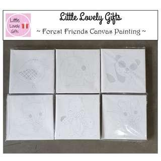 Canvas Painting Forest Friends