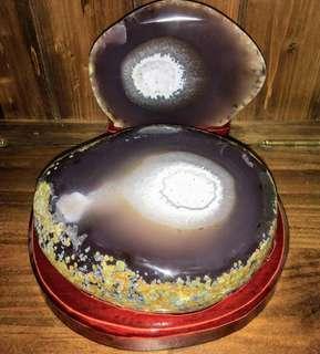 頂級天然原皮拋光瑪瑙聚寶盆,2.63公斤