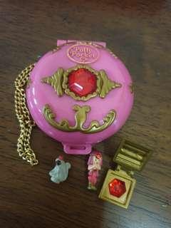 "🚚 Vintage Polly Pocket Mini Compact ""Jewelled Palace"" Complete with monkey"