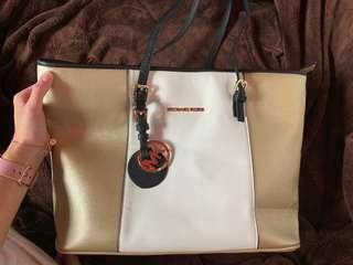 MK GoldxWhite bag