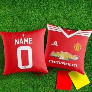 CUSTOMIZED MANCHESTER UNITED HOME 15-16 DECORATIVE PILLOW