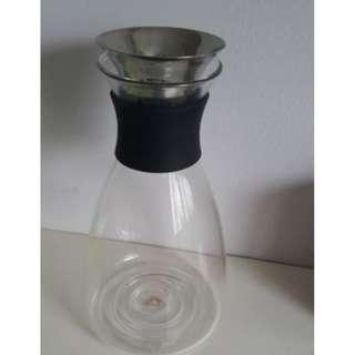 Sweet Deals Mint Conditions Glass Water Pitcher Bottle + 3pieces Mini glasses