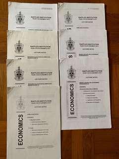 Raffles institution (jc) H2 economics notes