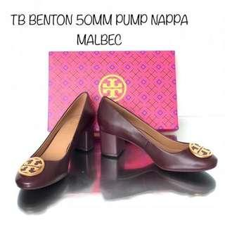 Tory Burch Benton 50mm Pump Nappa Malbec Available Size 7/8/9