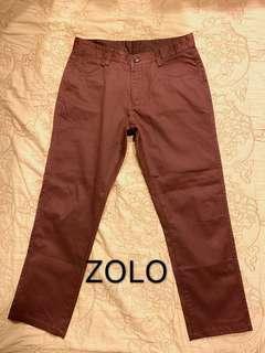 🚚 ZOLO 專櫃男裝 直筒休閒棉質 男褲 L