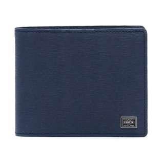 Porter Current Current Bi-Fold Wallet Purse Wallet 深藍色銀包  (Navy) - With recepit 有單 ; 包裝禮物袋仔