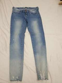 🚚 正韓超美刷色淺藍牛仔褲