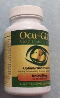 Ocu-GLO 寵物眼睛supplement for small dog 10/2020到期。一樽已開剩下64粒,一樽全新未開封90粒