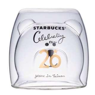 🚚 星巴克台灣限定超可愛20年紀念雙層小熊杯