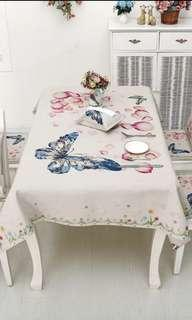 Table cloth Butterfly print