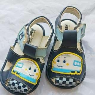 🚚 【二手】小火車學步鞋