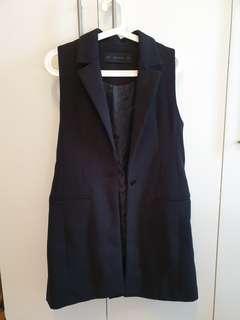 SUPER SALE! Zara Long Gilet / Sleeveless Coat