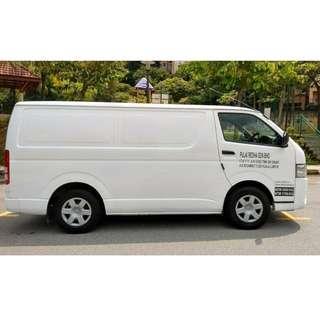 Van panel Toyota Hiace 2014 for rental