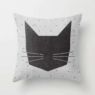 MEOW Cat Throw Pillow Cushion Cover