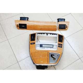 Toyota Alphard ANH10 Facelift Dashboard Walnut Set