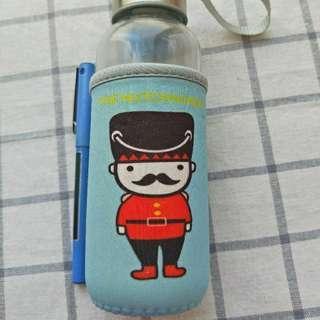 🚚 【全新久放】士兵玻璃瓶-藍