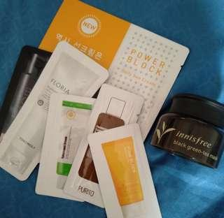 Korean skincare samples