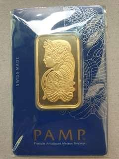 🚚 Pamp Suisse 1Oz fine gold bar (999.9 purity)