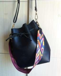 Double Strap Bucket Bag